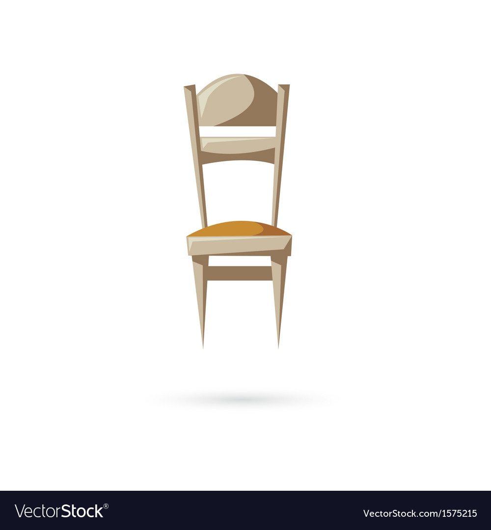 Chair isolated on a white backgrounds vector | Price: 1 Credit (USD $1)