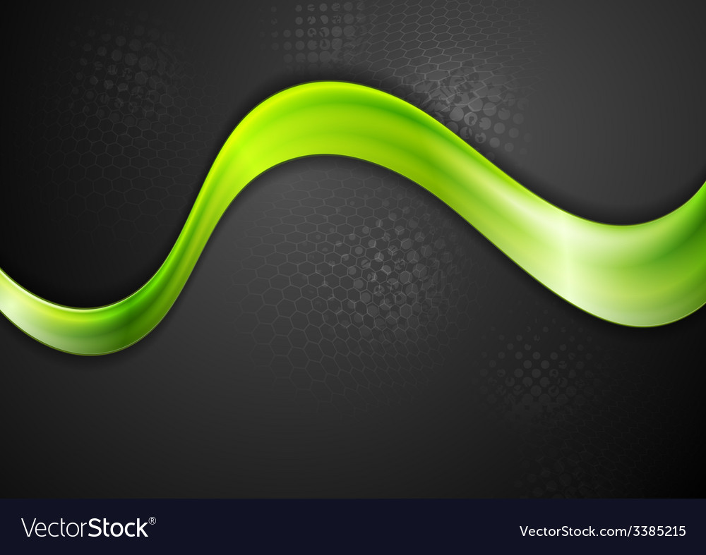 Green glowing wave design vector | Price: 1 Credit (USD $1)