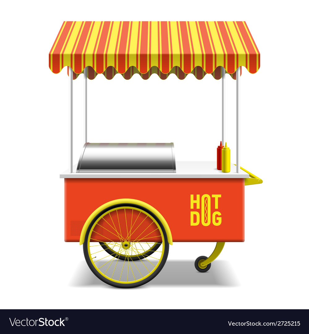 Hot dog street cart vector | Price: 1 Credit (USD $1)