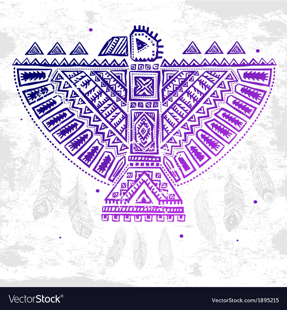 Native american eagle vector | Price: 1 Credit (USD $1)
