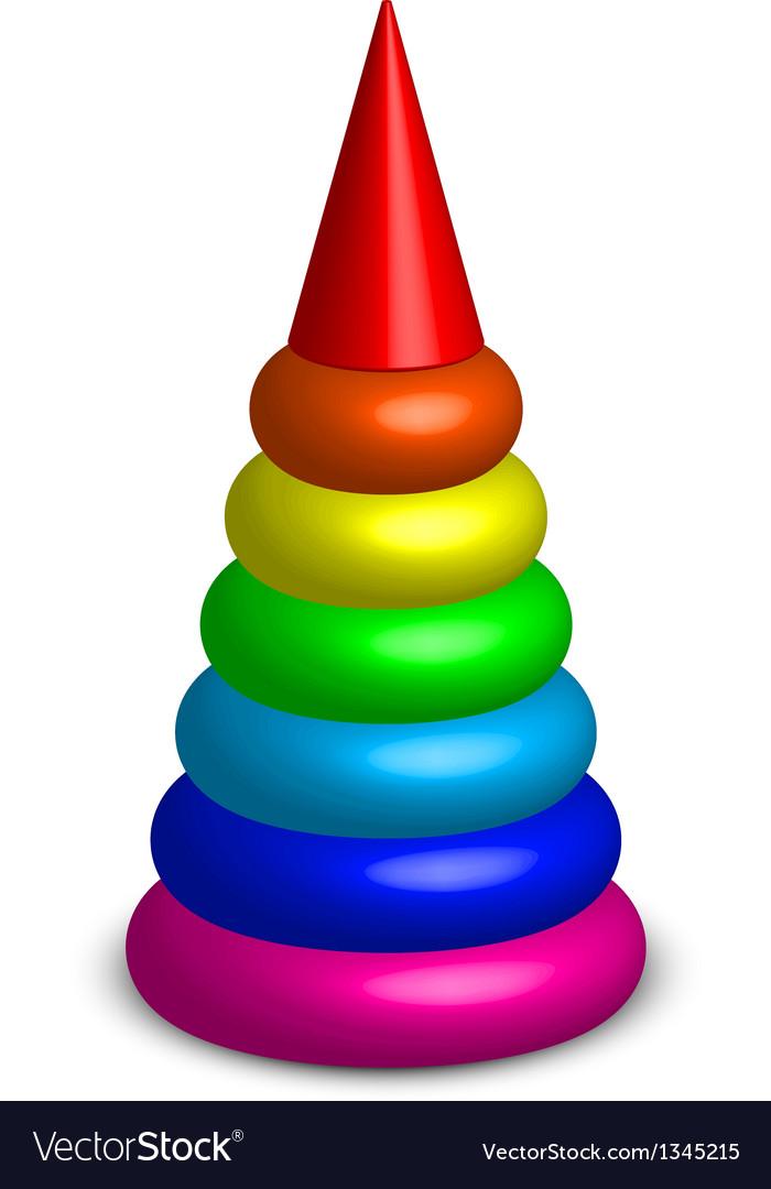 Plastic toy pyramid vector | Price: 1 Credit (USD $1)