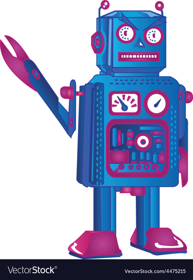 Retro robot vector | Price: 1 Credit (USD $1)