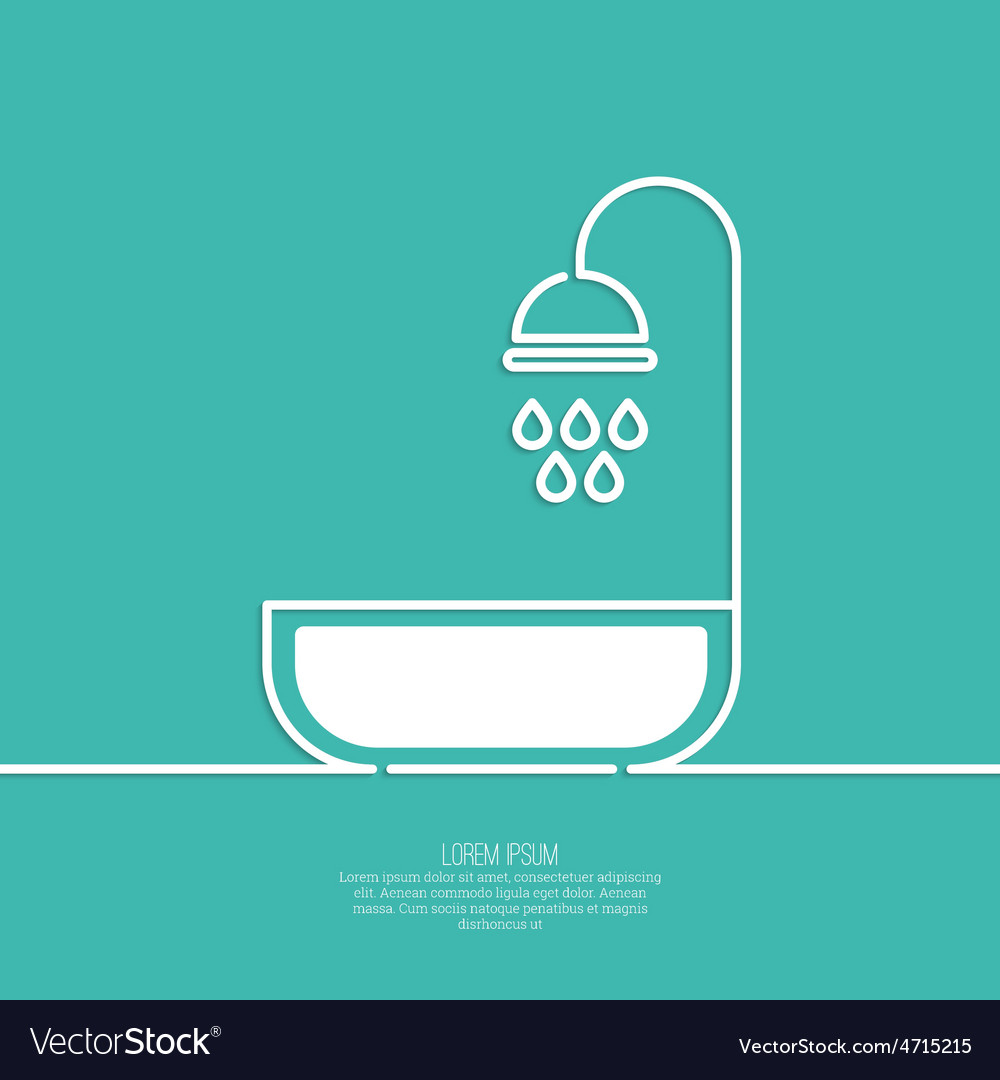 Shower handle with water drops vector | Price: 1 Credit (USD $1)