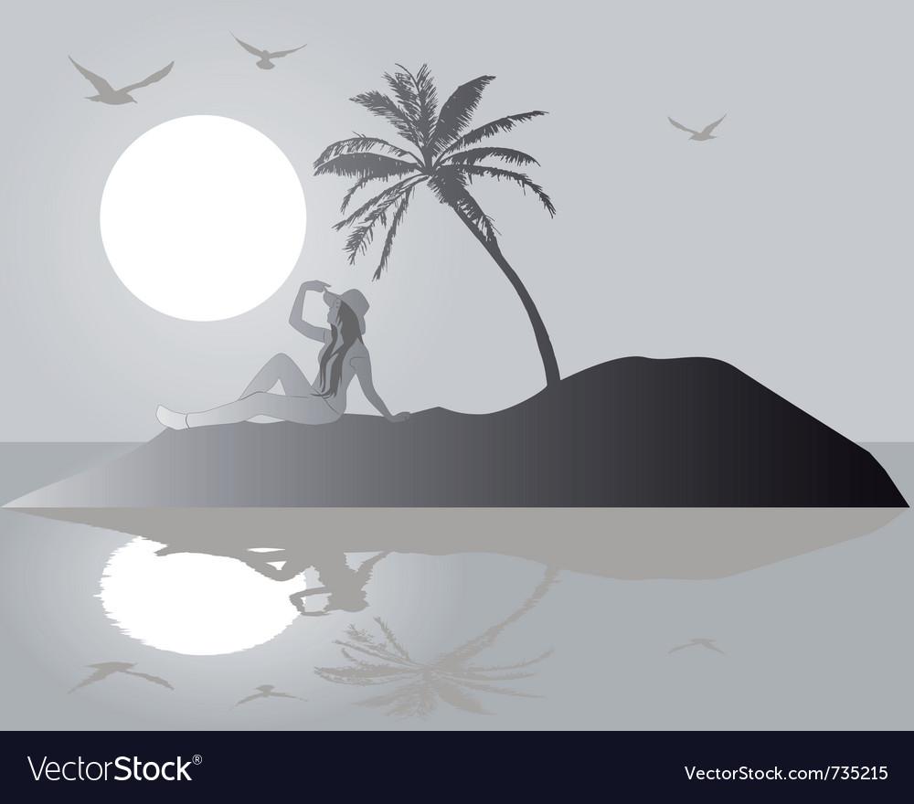 Silhouette island vector   Price: 1 Credit (USD $1)