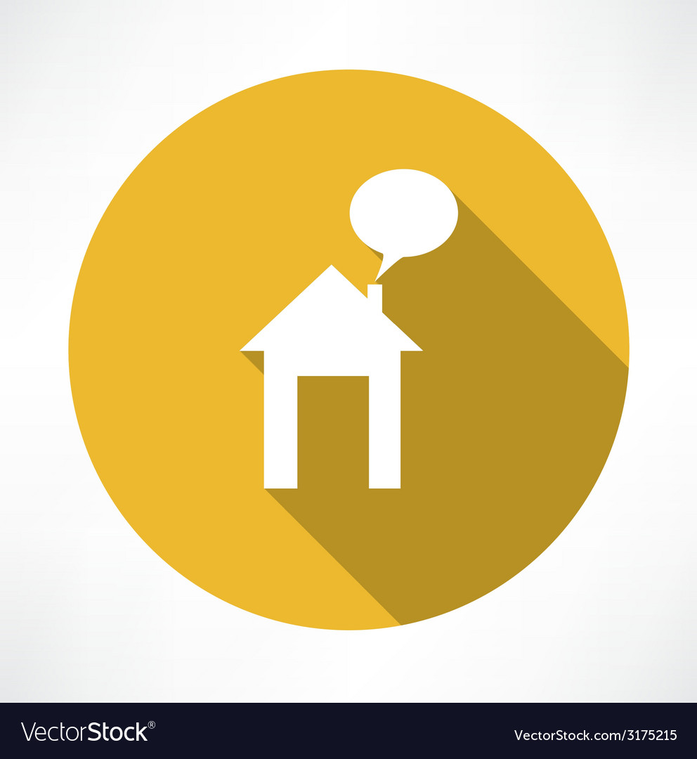 Talking in the house icon vector | Price: 1 Credit (USD $1)