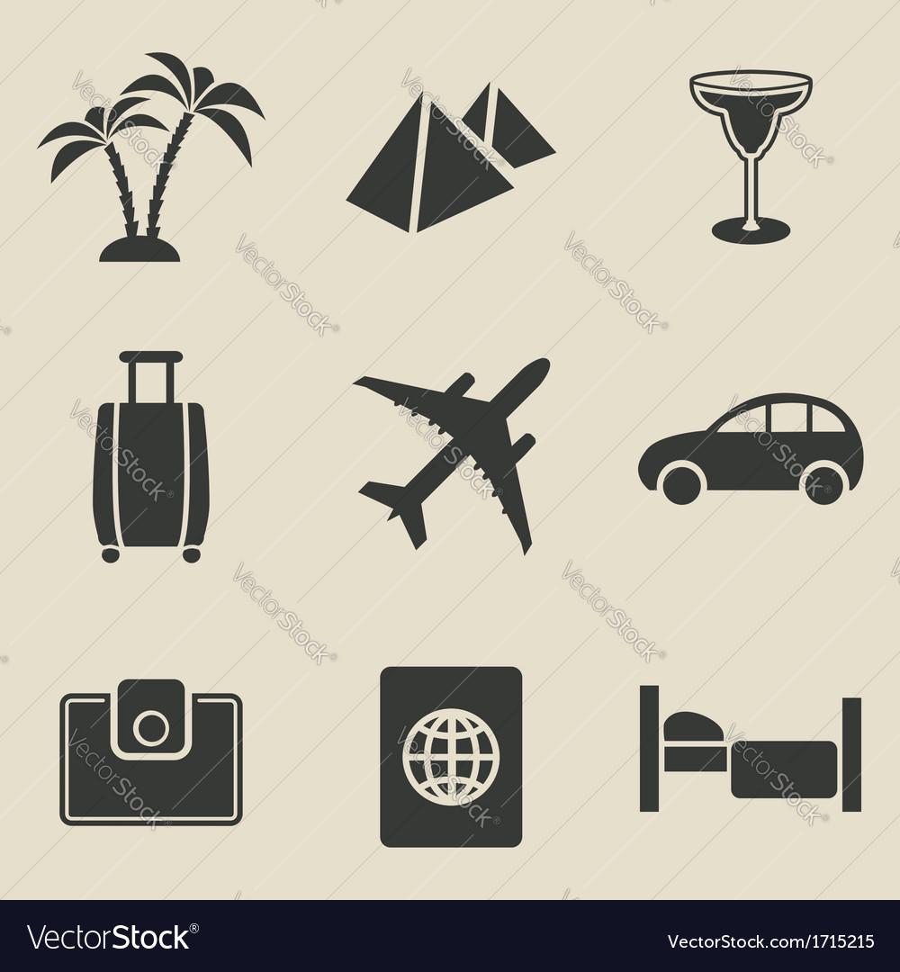 Travel icon set - vector | Price: 1 Credit (USD $1)
