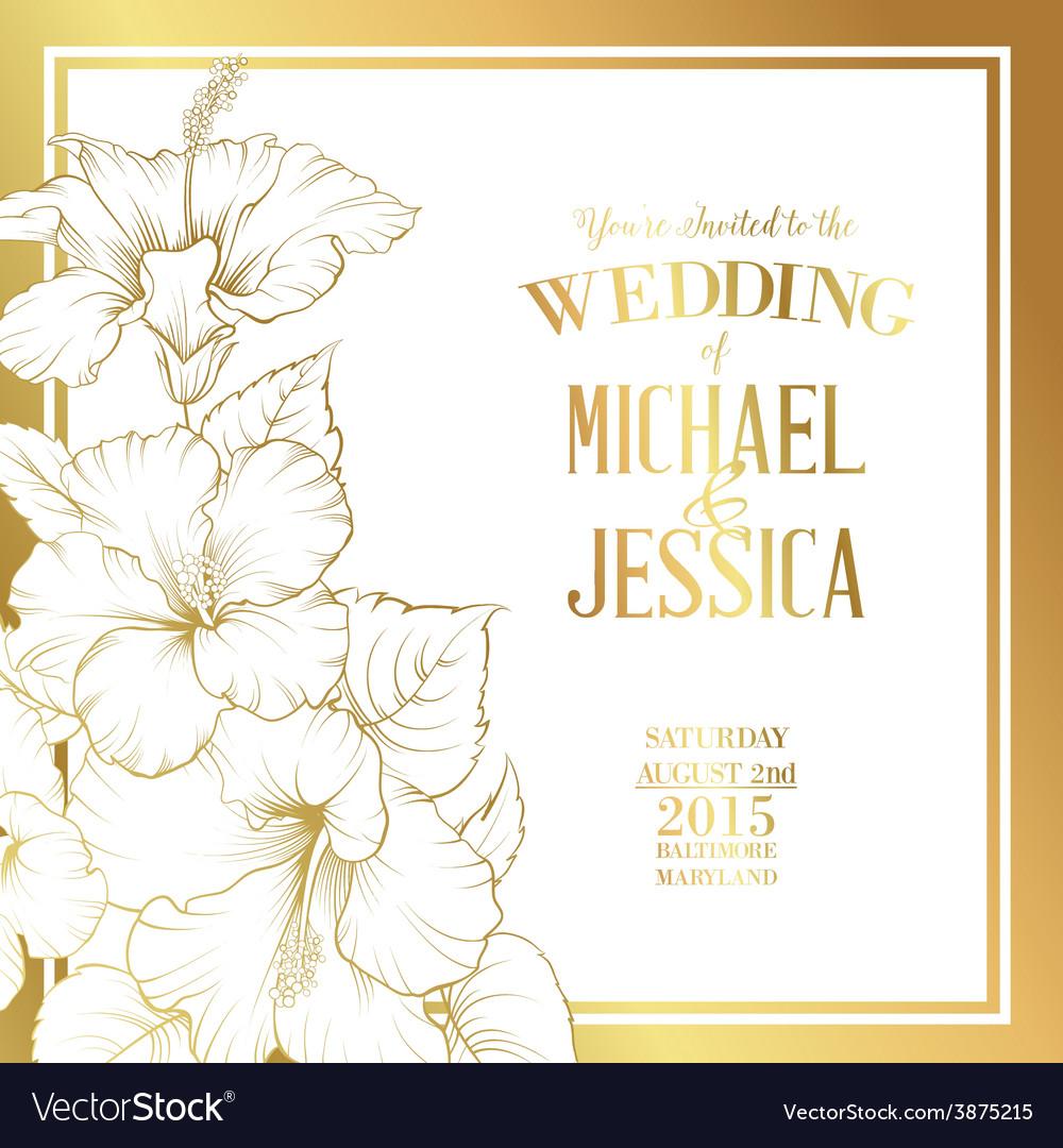 Wedding invitation text vector | Price: 1 Credit (USD $1)