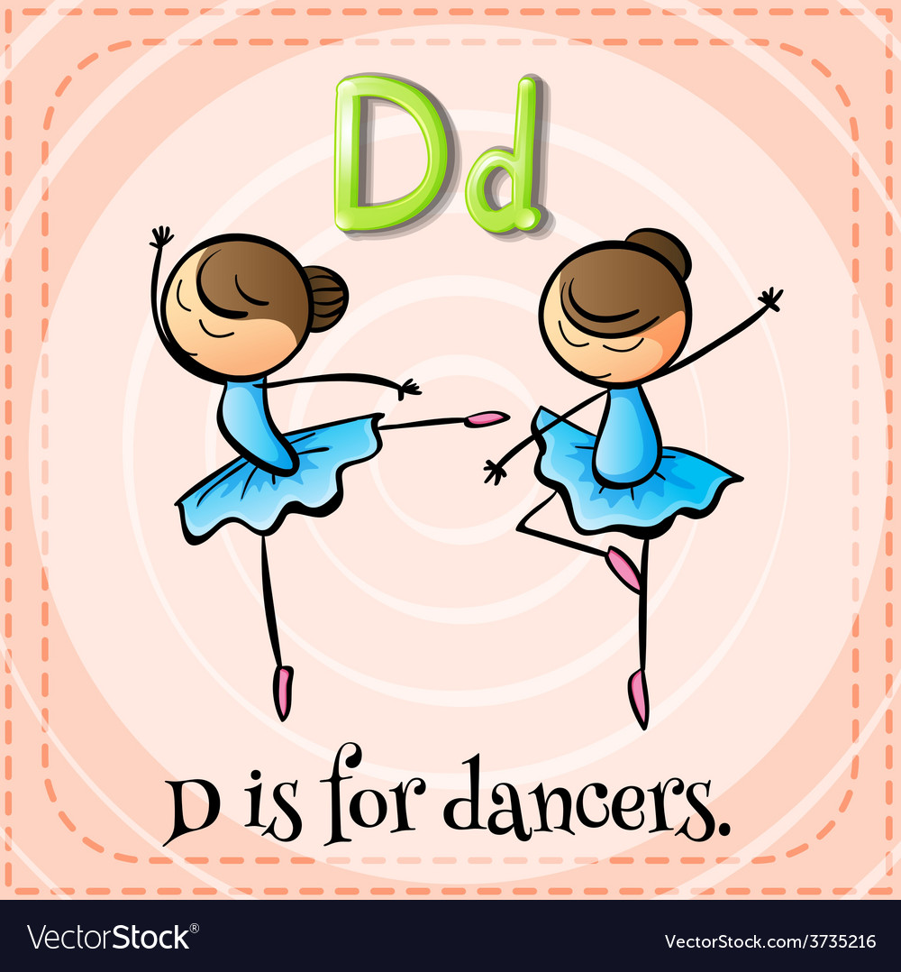 A letter d for dancers vector | Price: 1 Credit (USD $1)