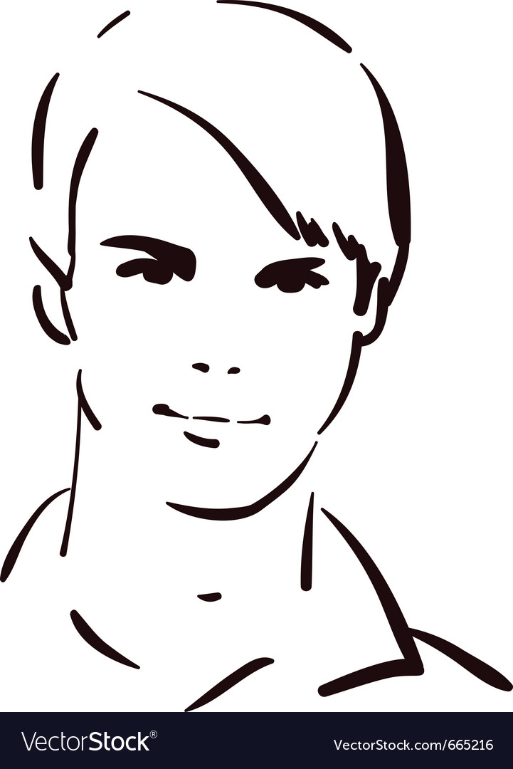 Attractive young man vector | Price: 1 Credit (USD $1)