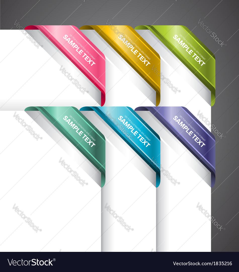 Bookmark labels corner vector | Price: 1 Credit (USD $1)