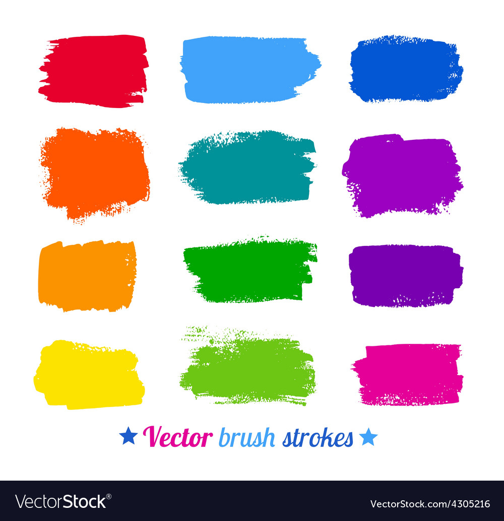 Colorful brush strokes vector | Price: 1 Credit (USD $1)
