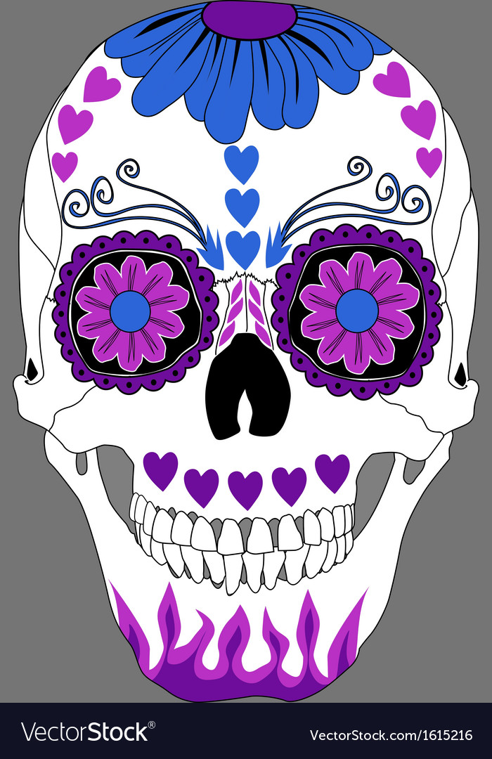Day of the dead skull vector | Price: 1 Credit (USD $1)