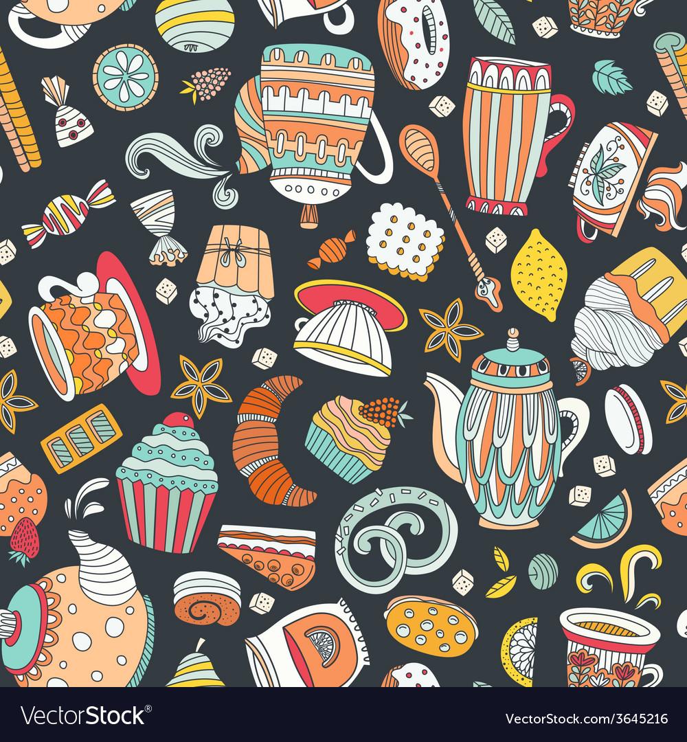 Dessert seamless pattern vector | Price: 1 Credit (USD $1)