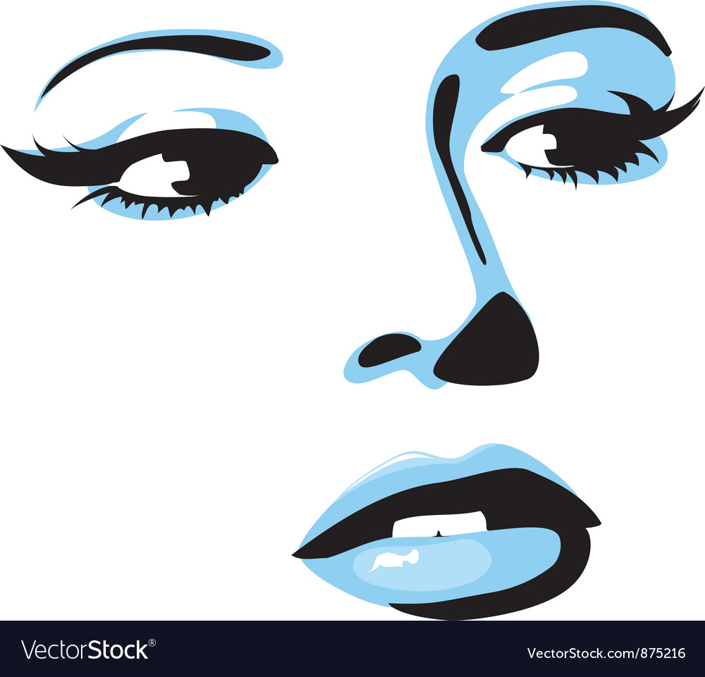 Face female vector | Price: 1 Credit (USD $1)