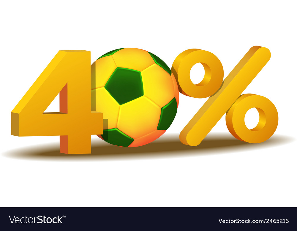 Forty percent discount icon vector | Price: 1 Credit (USD $1)