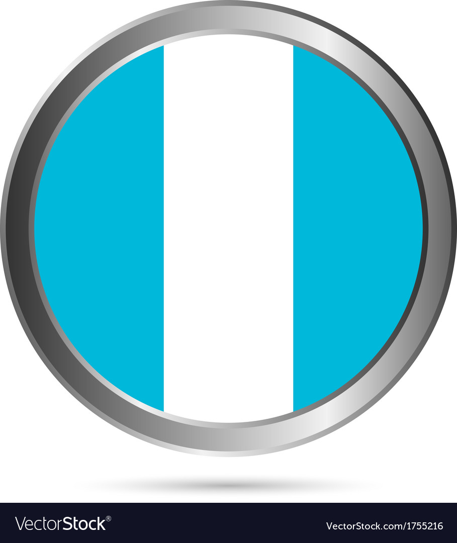 Guatemala flag button vector | Price: 1 Credit (USD $1)