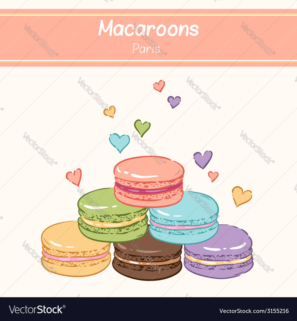 Macarons paris vector | Price: 1 Credit (USD $1)