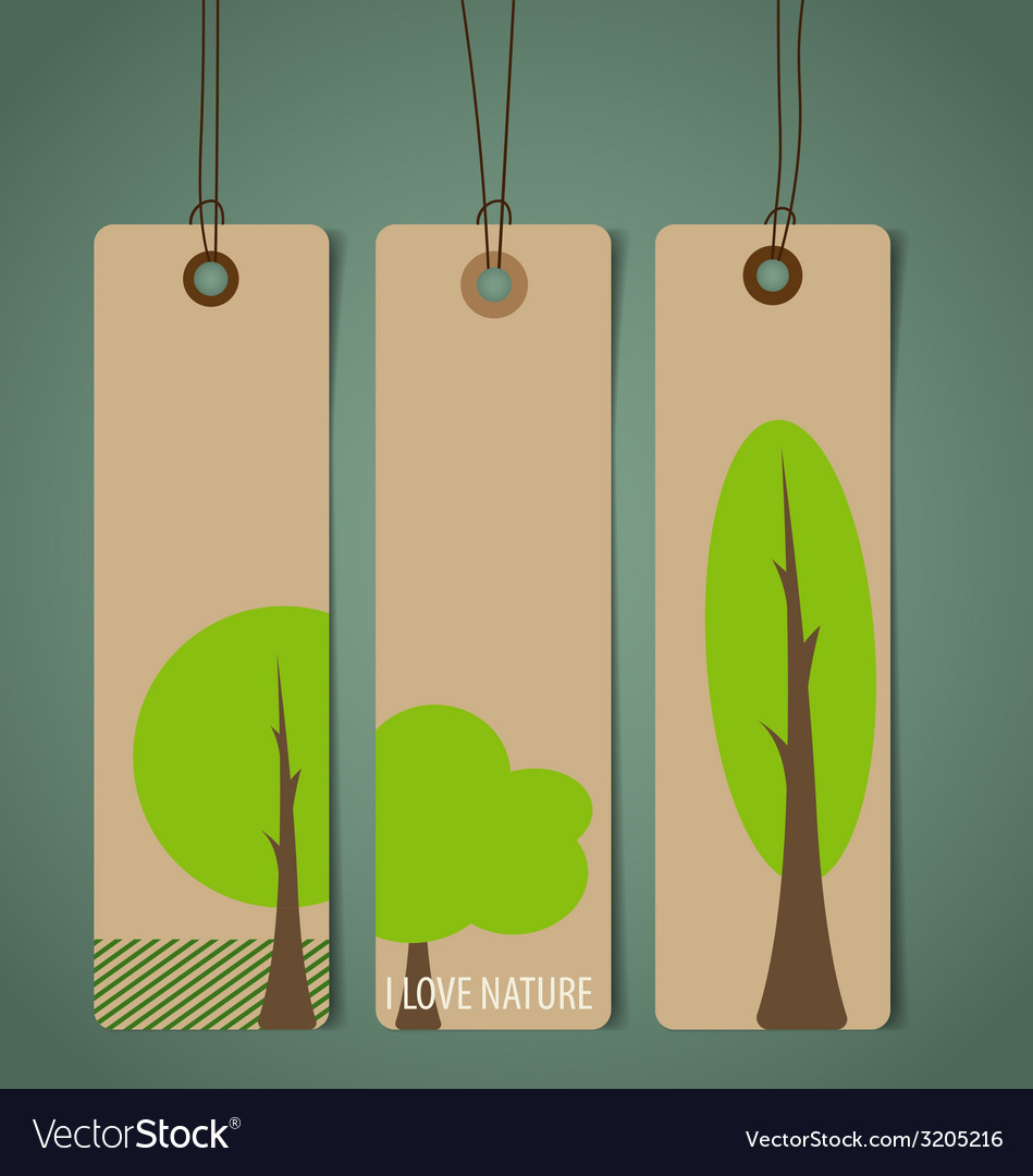 Nature banner eco organic labels and tags set vector | Price: 1 Credit (USD $1)