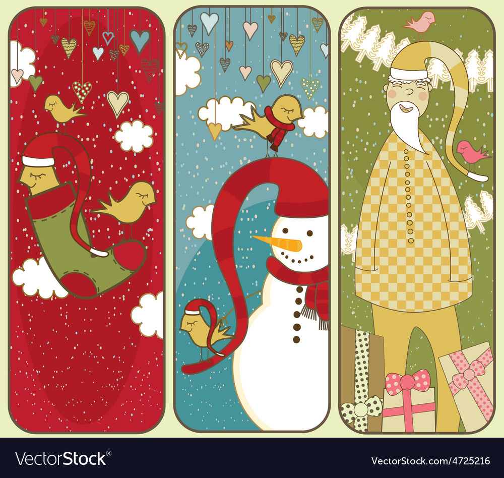 Set of colorful christmas banners vector | Price: 1 Credit (USD $1)