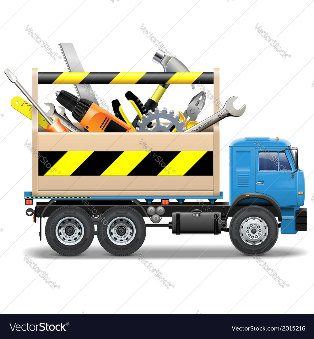 Toolbox and truck vector | Price: 3 Credit (USD $3)