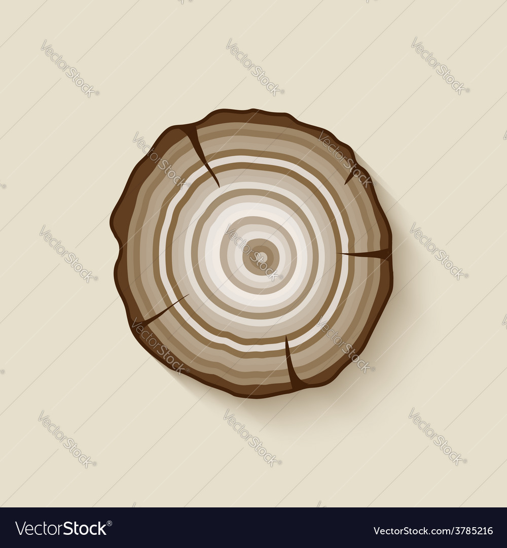 Tree rings symbol vector | Price: 1 Credit (USD $1)