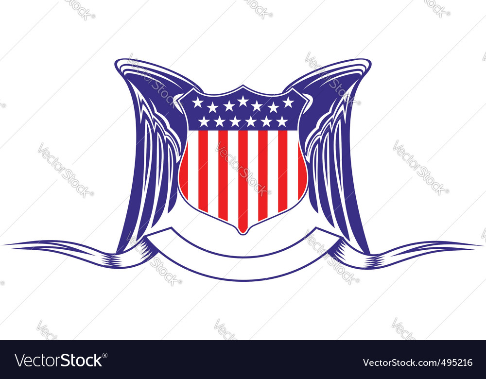 Usa heraldry symbol vector | Price: 1 Credit (USD $1)