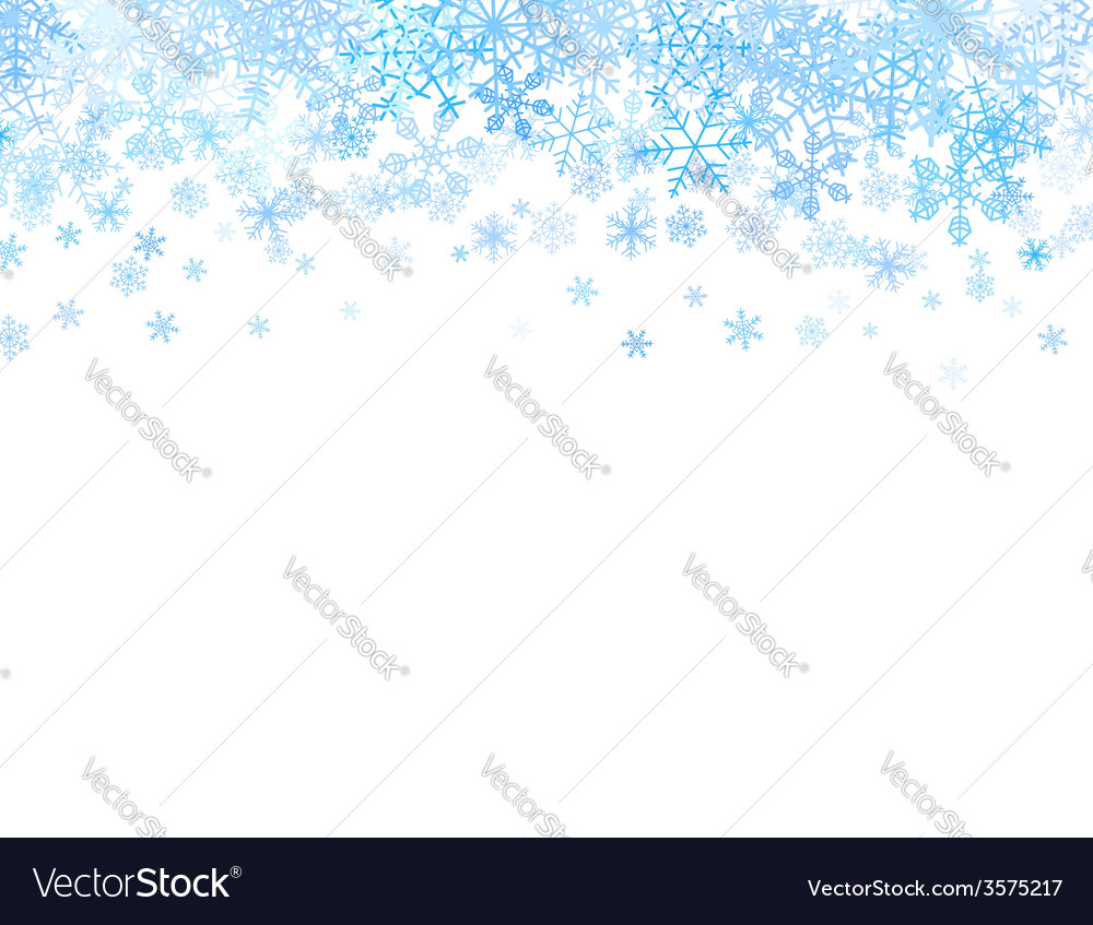 Christmas card with snowflakes on top vector   Price: 1 Credit (USD $1)