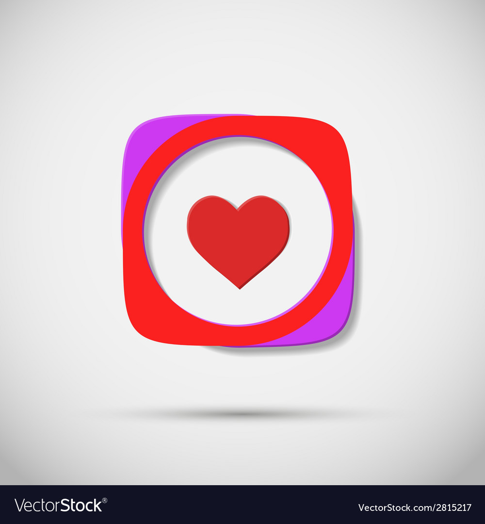 Creative icon hearts on plain background vector | Price: 1 Credit (USD $1)