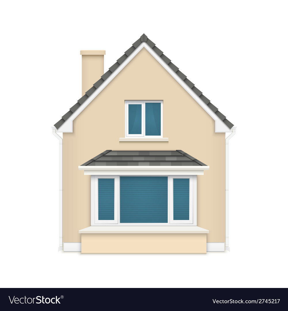 Detailed house icon isolated on white background vector | Price: 1 Credit (USD $1)