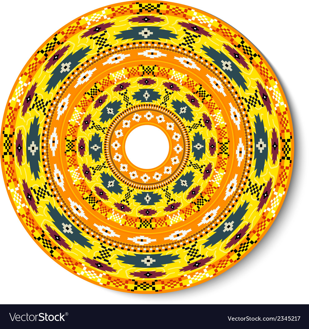 Geometric decorative round element vector | Price: 1 Credit (USD $1)