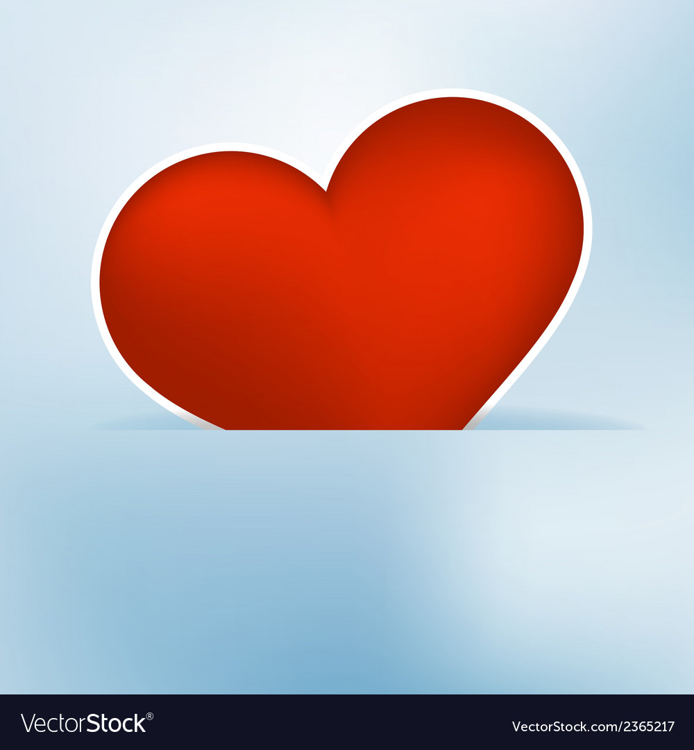 Heart label from paper valentines day card  eps8 vector | Price: 1 Credit (USD $1)