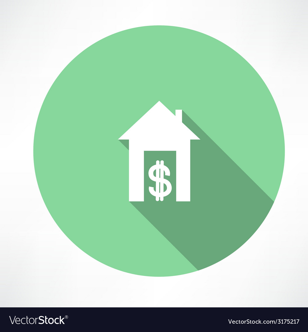 House and money icon vector | Price: 1 Credit (USD $1)