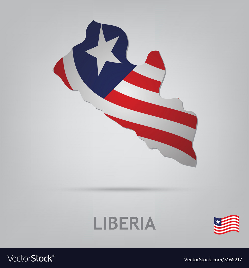 Liberia vector | Price: 1 Credit (USD $1)