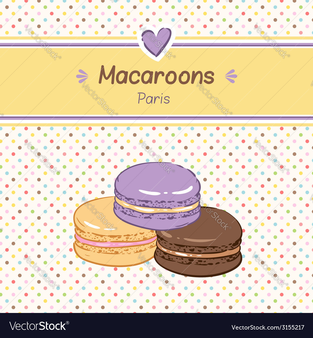 Macarons three vector | Price: 1 Credit (USD $1)
