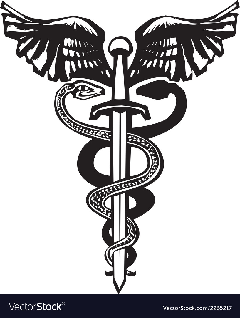 Sword caduceus vector | Price: 1 Credit (USD $1)
