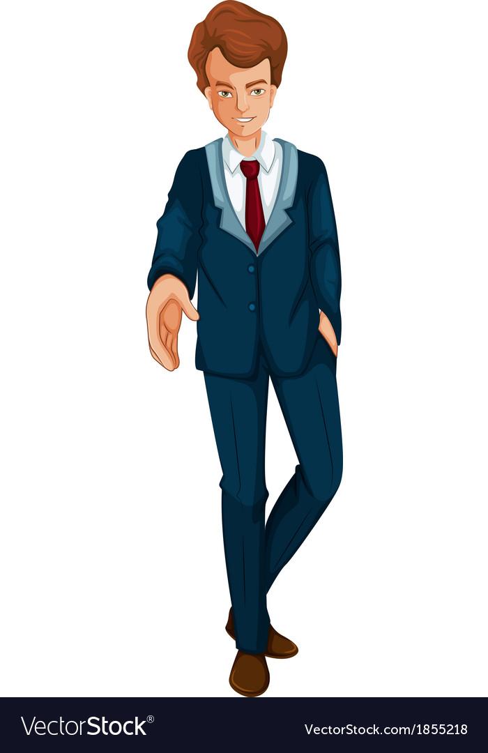 A businessman in a formal attire vector | Price: 1 Credit (USD $1)