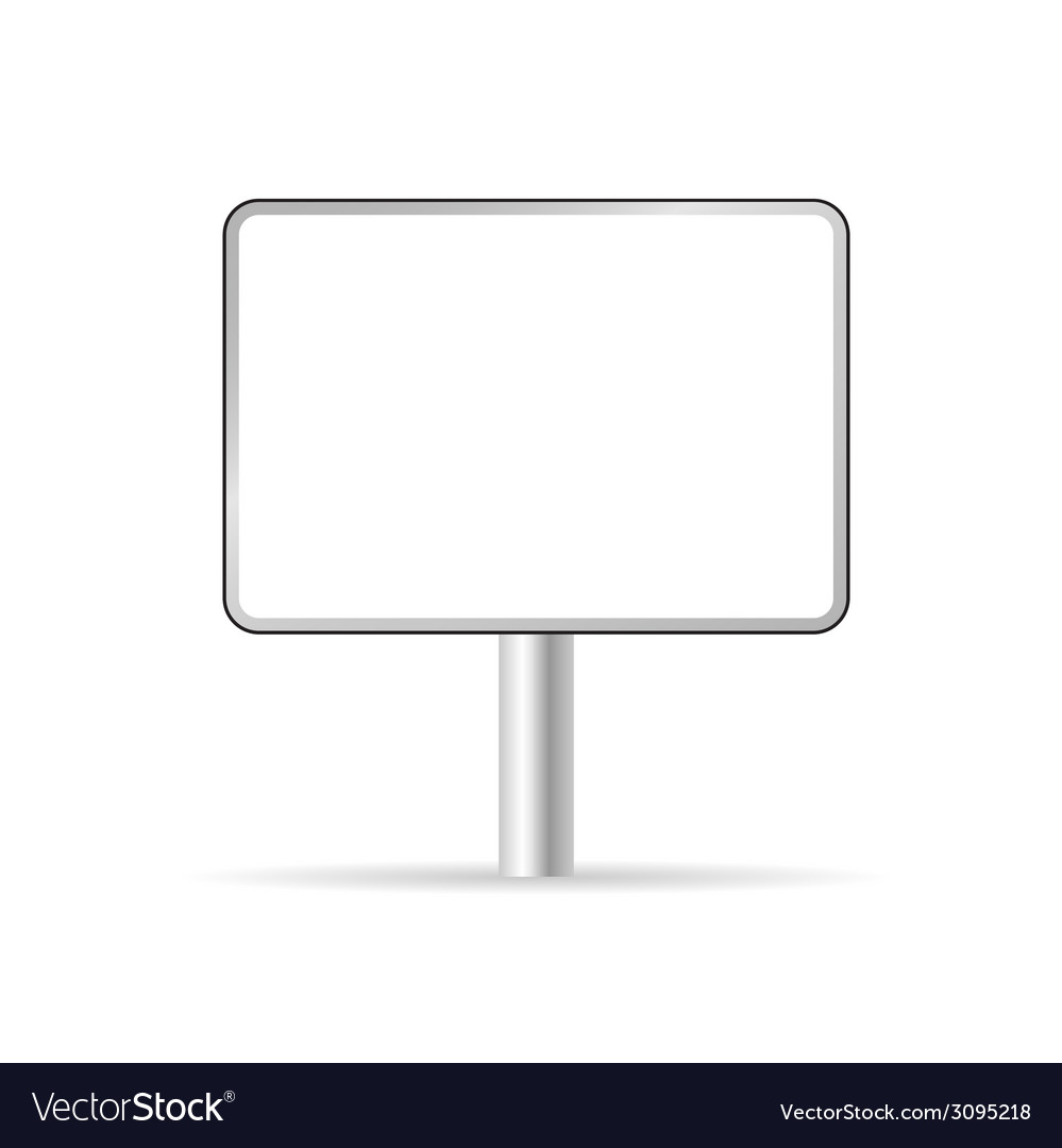 Blank traffic sign vector | Price: 1 Credit (USD $1)