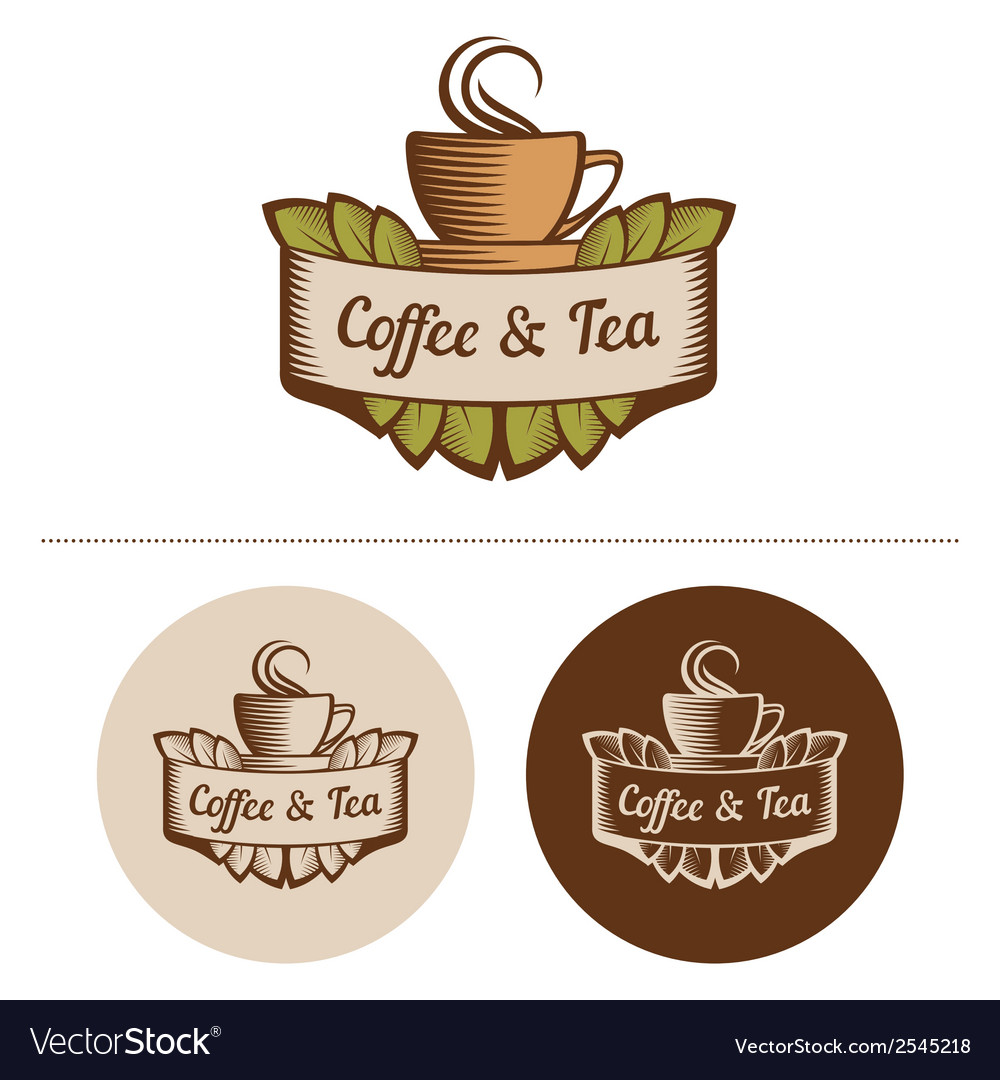 Coffee and tea logo template vector | Price: 1 Credit (USD $1)