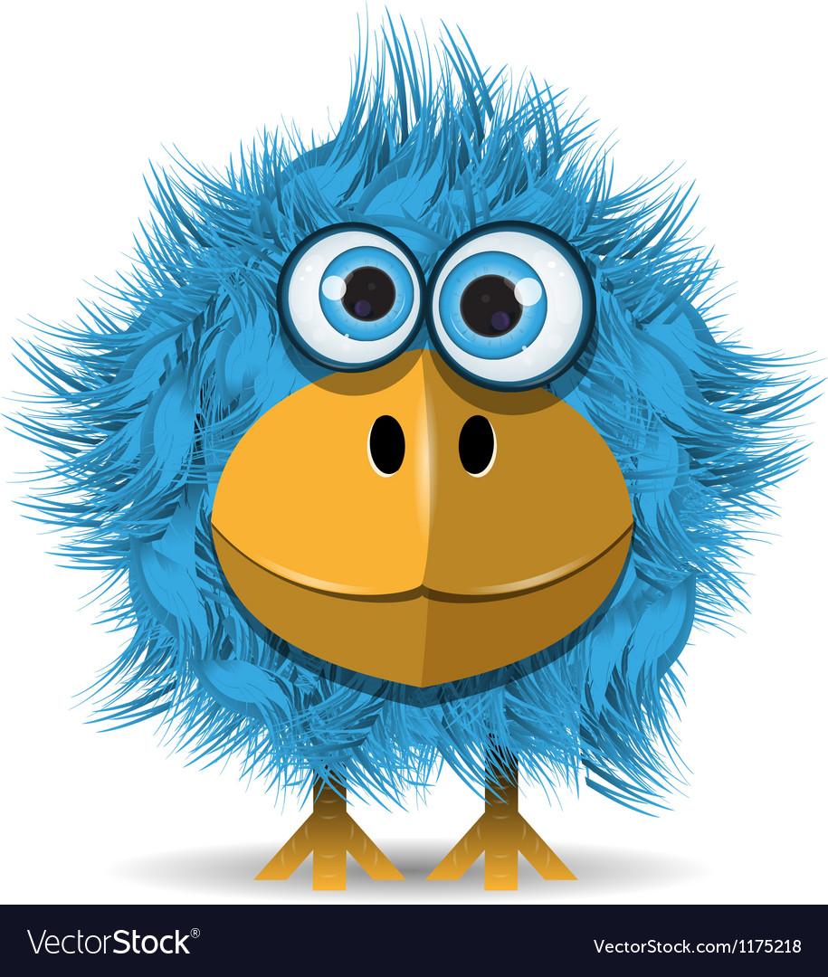 Funny blue bird vector | Price: 3 Credit (USD $3)