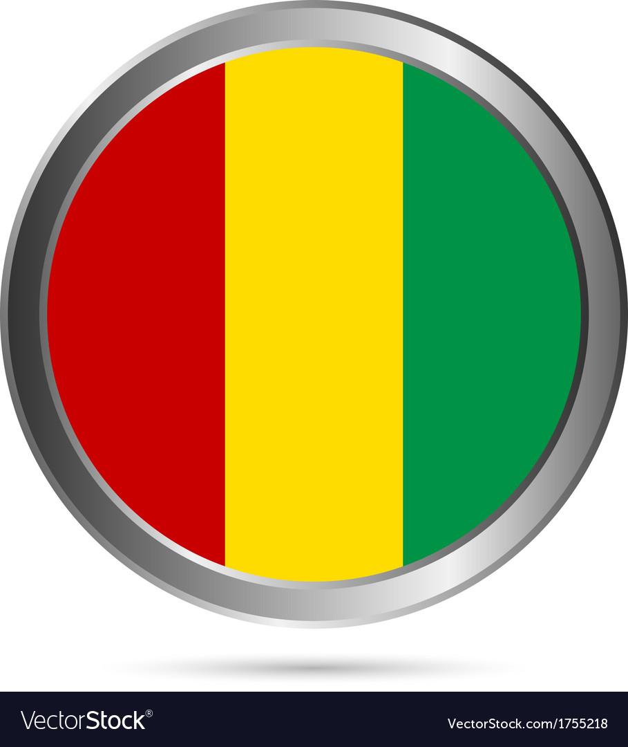 Guinea flag button vector | Price: 1 Credit (USD $1)