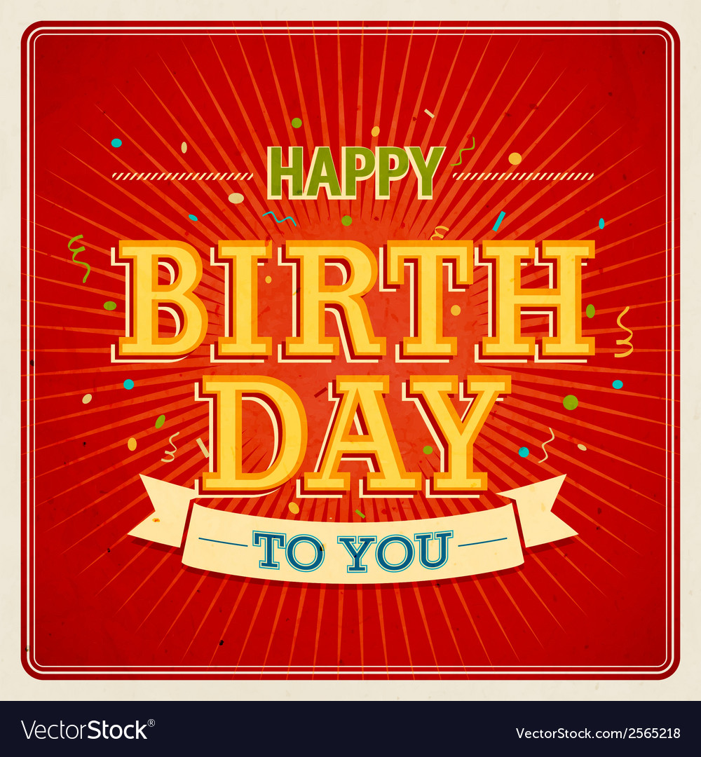 Happy birthday to you 2 2 vector | Price: 1 Credit (USD $1)