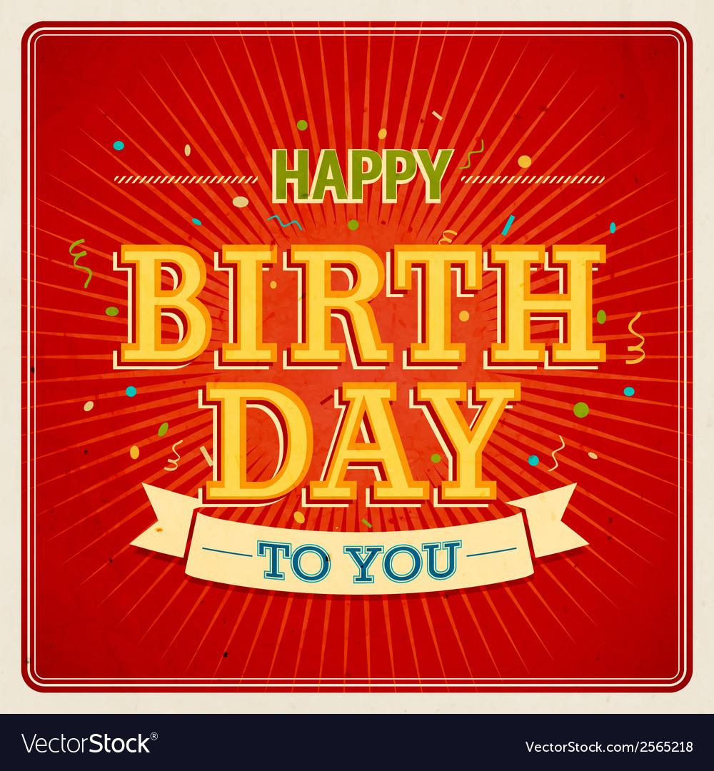 Happy birthday to you 2 2 vector | Price: 1 Credit (USD $1)