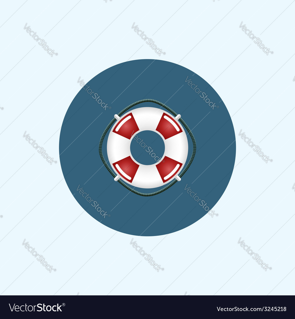 Icon with colored lifebuoy vector | Price: 1 Credit (USD $1)