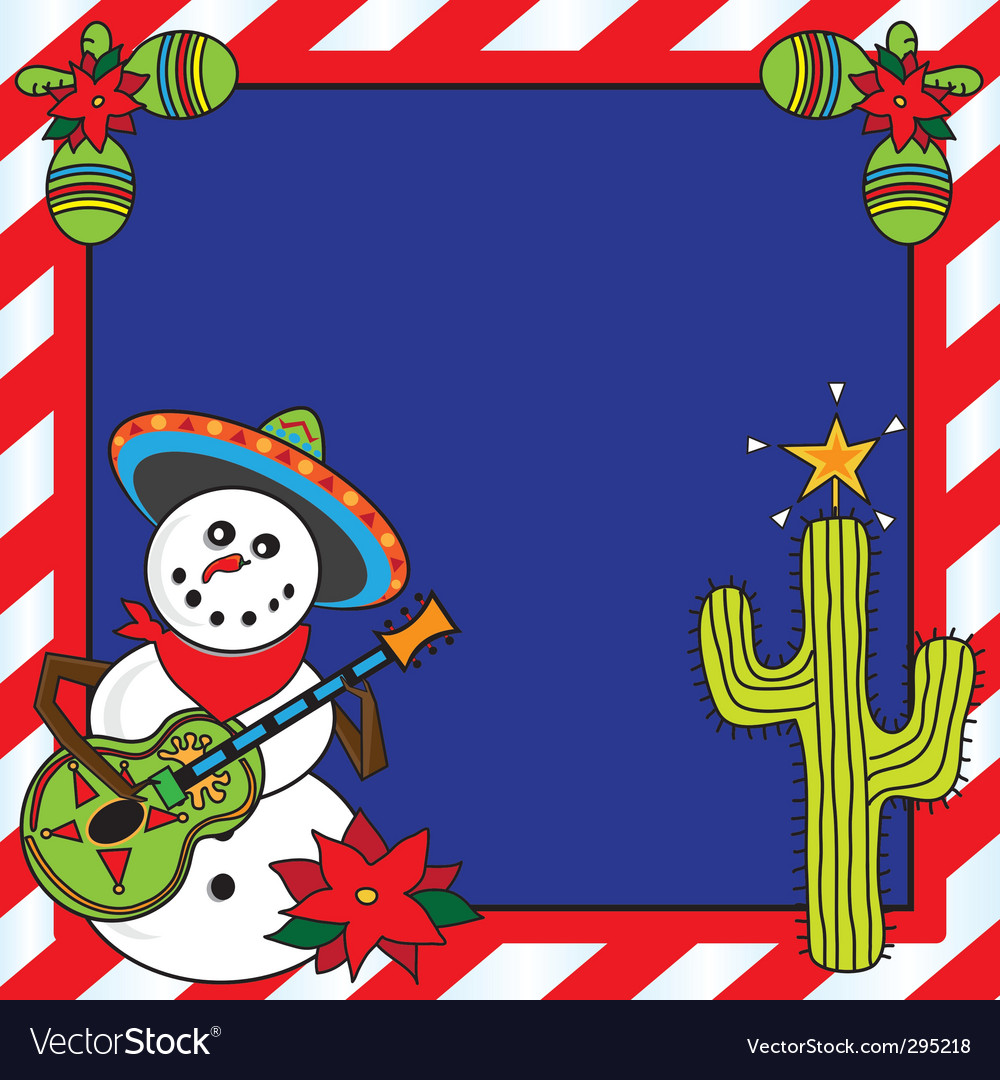 Mexican christmas card vector | Price: 3 Credit (USD $3)