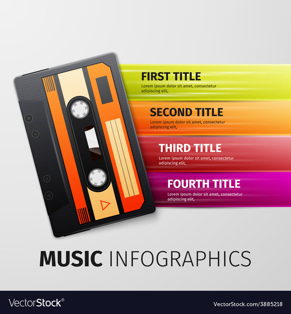 Music infographics vector | Price: 1 Credit (USD $1)