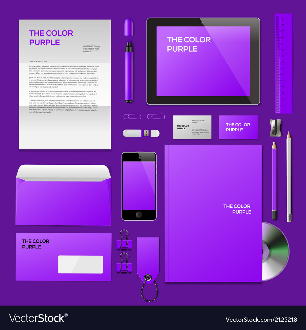 Purple corporate id mockup vector | Price: 1 Credit (USD $1)