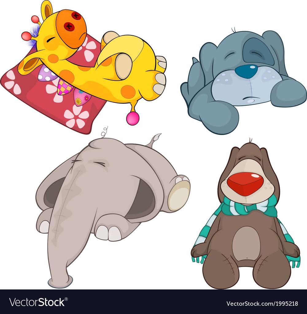 Set of soft toys cartoon vector   Price: 1 Credit (USD $1)