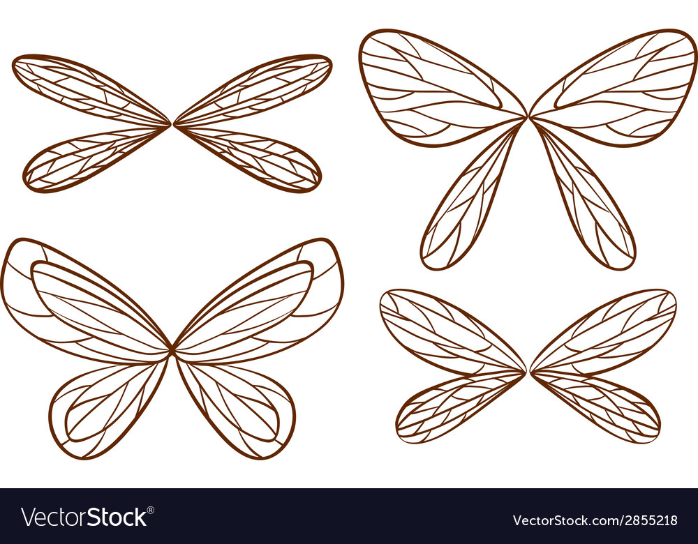 Simple sketches of fairy wings vector | Price: 1 Credit (USD $1)