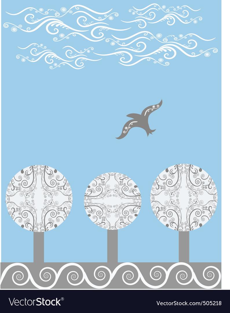 Soaring bird vector | Price: 1 Credit (USD $1)