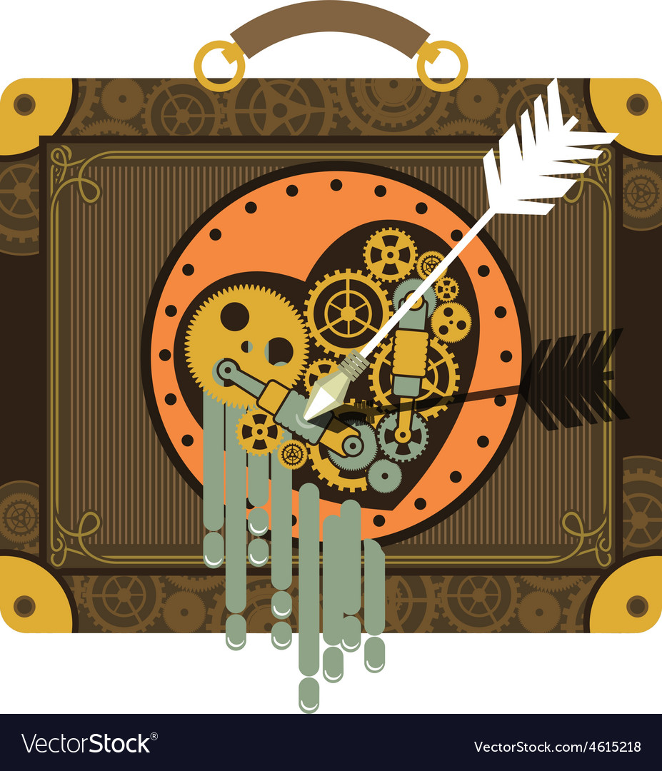 Steampunk mechanical heart vector | Price: 1 Credit (USD $1)